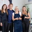 Team Of Hair Stylists In Salon — Stock Photo