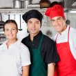 Happy Chefs In Kitchen — Stock Photo #22499935