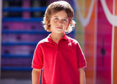 Boy In Casuals At Preschool — Stock Photo