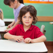 Stock Photo: Little Boy With Clay At Kindergarten