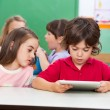 Children Using Digital Tablet At Preschool — Stock Photo
