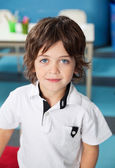 Cute Boy In Casuals At Kindergarten — Stock Photo