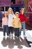 Boy Standing With Friends In Kindergarten — Stock Photo