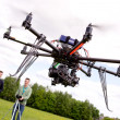 Photographer and Pilot with UAV — Foto de Stock