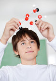 High School Student Looking At Molecular Structure — Stock Photo