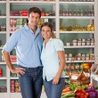 Stock Photo: Couple Standing In Grocery Store