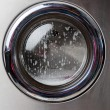 Washing Machine With Foam On Front Load — Foto Stock #27600231
