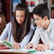 Teenage Friends Studying Together At Desk — Stock Photo #27947353