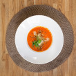 Tomato Soup On Table — Stockfoto