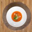 Tomato Soup On Table — Stock Photo