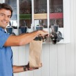 Man Buying Coffee Beans At Grocery Store — Stock Photo #28439099