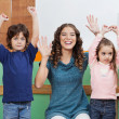 Teacher Playing With Children In Class — Stock Photo #29007617