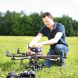 Stock Photo: Engineer Fixing UAV Drone