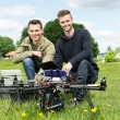 Engineers With Laptop And Digital Tablet By UAV — Stock Photo #31183027