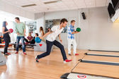 People Playing in Bowling Alley — Stock Photo