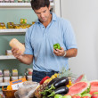Stock Photo: MShopping Vegetables In Supermarket