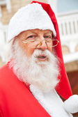 Santa Claus Wearing Glasses Outdoors — ストック写真