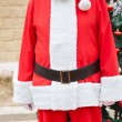 Santa Claus Standing Against Tree — Stock Photo