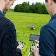 Engineers Operating UAV Helicopter — Stock Photo #31869507