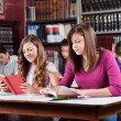 Stock Photo: Teenage Students Studying In Library