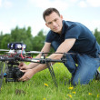 Stock Photo: Engineer Setting CamerOn Photography Drone