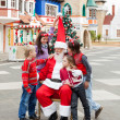 Happy Children And Santa Claus — Stock Photo