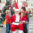 Happy Children With Santa Claus — Stock Photo