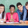 Teacher With Teenage Students In Classroom — Stock Photo