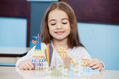 Girl Making Craft In Preschool — Stock Photo