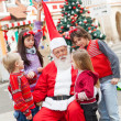 Stock Photo: SantClaus And Children In Courtyard