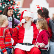 Children Playing With Santa Claus's Hat — Stok fotoğraf
