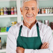 Confident Male Owner Standing In Grocery Store — Stock Photo
