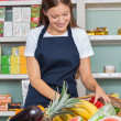 WomWorking At Grocery Store — Stock Photo #33254813