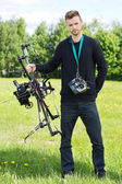 Engineer With UAV Drone And Remote Control — Stockfoto