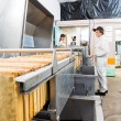 Beekeepers Working On Honey Extraction Plant — Stockfoto