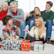 Family With Christmas Presents At Home — Stock Photo
