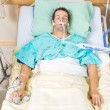 Patient With Endotracheal Tube Resting In Hospital — Stock Photo #33462251