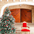 Christmas Tree And Chair — Stock Photo