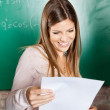 Student Looking At Exam Result In Classroom — Stock Photo