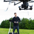 Engineer Flying Photography Drone — Stock Photo