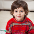Cute Boy Wearing Sweater During Christmas — Stock Photo