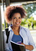 Female Student Smiling On University Campus — Stock Photo