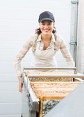 Beekeeper Working with Extractor — Stock Photo