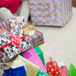 Closeup Of Christmas Presents — Stock Photo