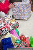 Closeup Of Christmas Presents — Stock Photo
