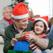 Son And Father With Christmas Presents — Stock Photo