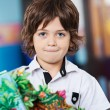 Little Boy With Craft In Kindergarten — Stock Photo