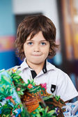 Little Boy With Craft In Kindergarten — Stockfoto