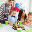Family Celebrating Birthday Party At Home — Stock Photo