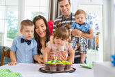 Family Celebrating Girl's Birthday — Stock Photo